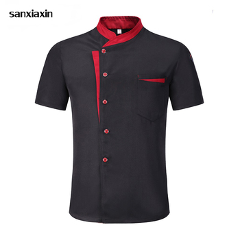 new Chef Jacket Hotel hotel uniform Short Sleeve Mesh Breathable Work clothes Catering Restaurant Kitchen Bakery chef