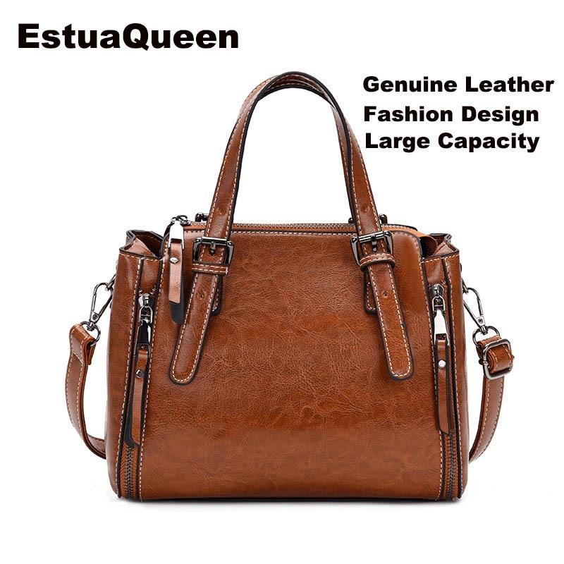 Sheepskin Ladies HandBags Women Genuine Leather bags Tote Messenger Bags Korean fashion large capacity Designer Luxury Brand Bag