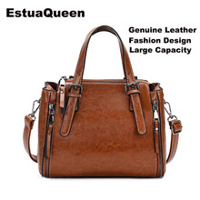 Sheepskin Ladies HandBags Women Genuine Leather bags Tote Messenger Bags Korean fashion large capacity Designer Luxury Brand Bag цены онлайн