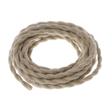 5 Meters 2x0.75 Vintage Rope Twisted Electric Wire Retro DIY Hemp Braided Cable