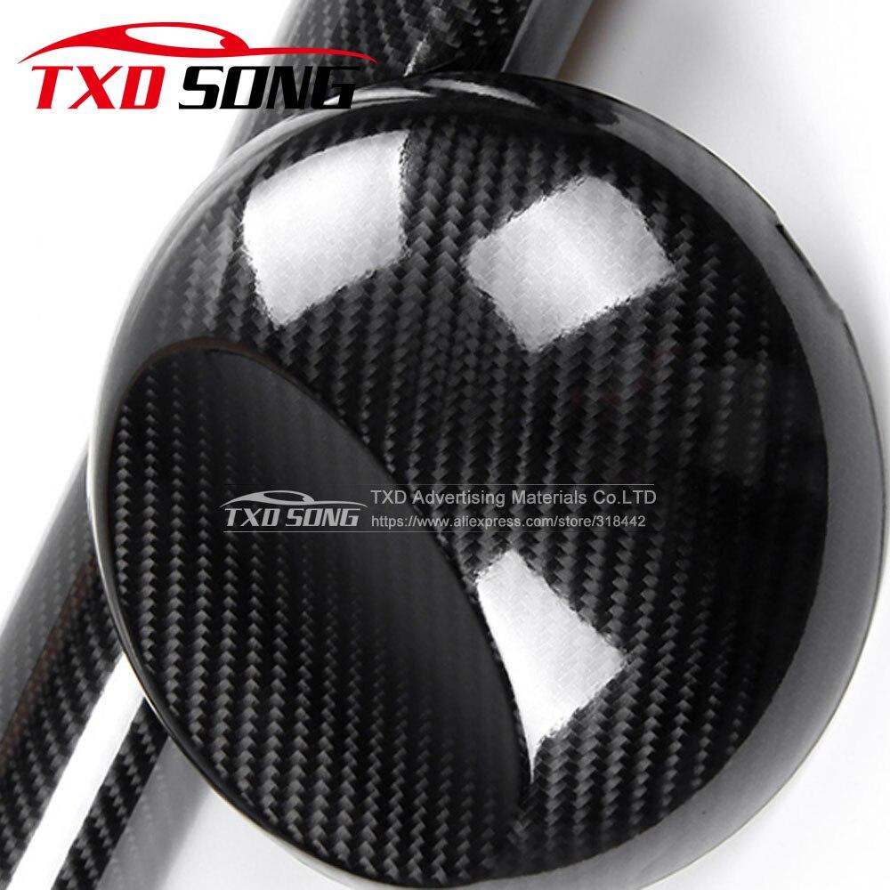 60CM * 500 CM/rouleau Premium brillant 5D film en fibre de carbone 5D autocollant en fibre de carbone avec bulles d'air gratuit par livraison gratuite