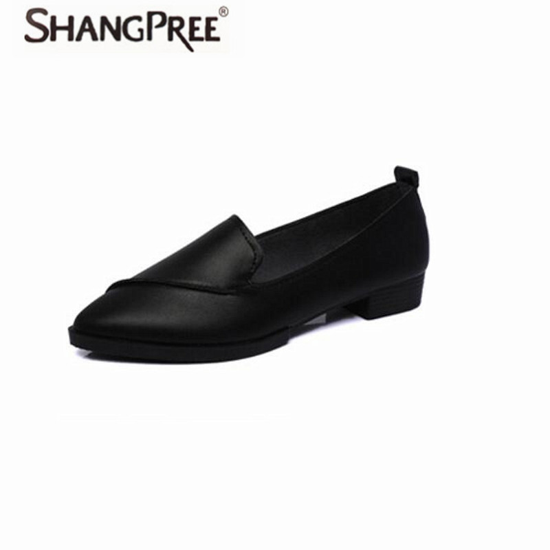 Hot 2017 Spring Autumn Women flats hoes Leather Pointed Toe Flats Woman light Slip-On Casual Shoes With Sewing Flats Shoe daitifen 2018 spring elegant mental buckle pointed toe ladies flat shoe fancy flock shoes women flats casual slip on women flats