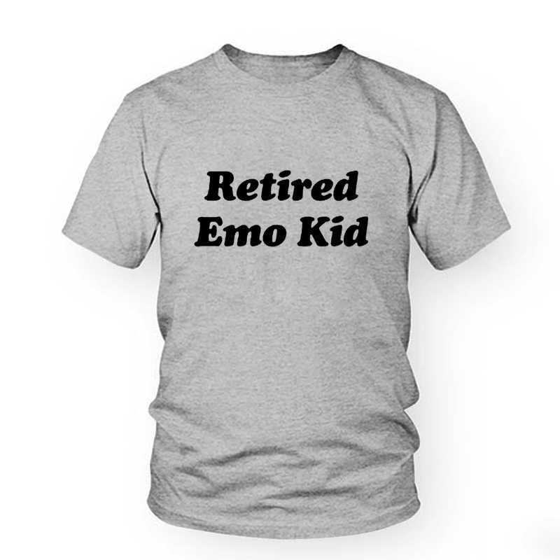 Tees de algodão s Feminino Tumblr Tshirt Gráfico Feminino Roupas APOSENTADO GAROTO EMO T-shirt Das Senhoras Das Mulheres Verão Top Estilo