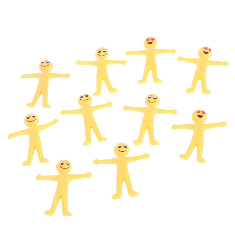 HBB 10PCs Funny Expression Smiley Face Pull Elf Doll Toys Children Baby Kids Gift Novelty Random Styles