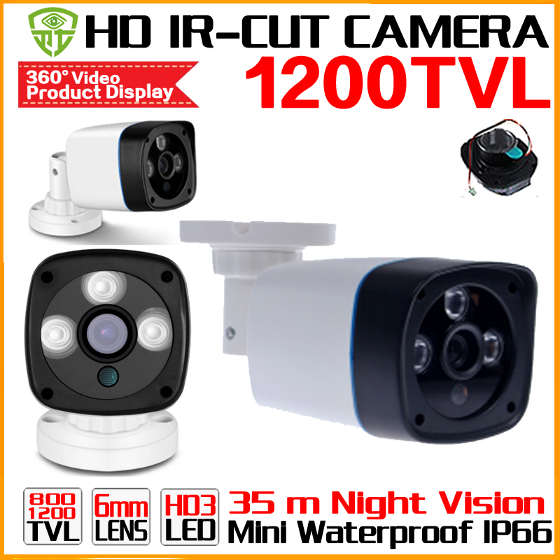 Big Sale 1/4cmos 1200TVL small Outdoor Waterproof IP66 CCTV Security Color Mini HD Camera 24led IR infrared Night Vision Bracke small mini metal 1200tvl cctv security surveillance hd camera ir cut infrared night vision metal waterproof ip66 color home cam