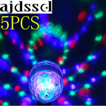 5PC SRGB Led Bulb Stage Light Party Dance E27 85-265V Lamps Magic Auto Rotating DJDisco Christmas Light Colorful lamp KTV Bar e27 6w led bulb rgb auto rotating magic ball bulb lamp stage light colorful night light for home dj holiday party dance decora