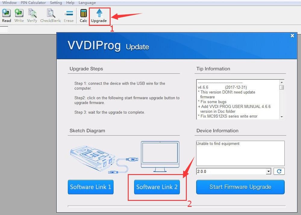 vvdi prog software link download update version