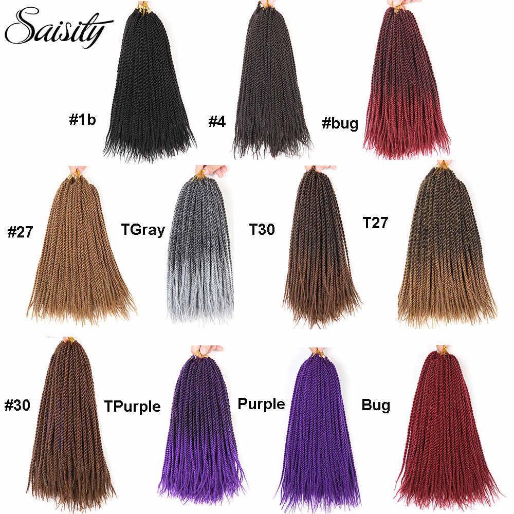 Trenza de ganchillo cabello senegaleset twist ombre trenzado cabello crotchet trenzas extensiones de cabello trenzado sintético havana mambo twist