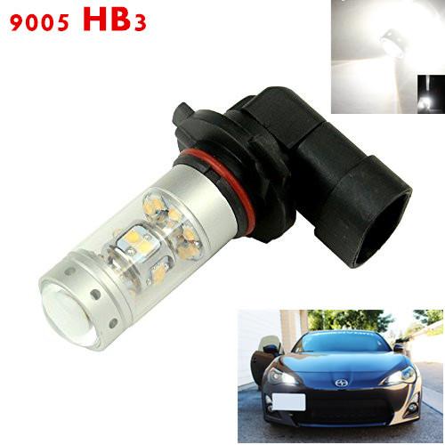 2x de alta calidad 140 w sharp chip led 9005 hb3 llevó la luz de bulbo Lente del proyector 1000 Lms Car Auto DRL Lámpara Corriente Diurna Luz de Niebla