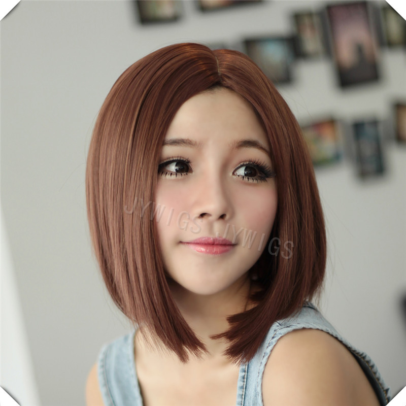 Middle Part Bob Wig Straight Sexy Syethetic Wig Middle Part Closure