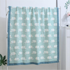 Image 2 - Детское муслиновое одеяло, 100% хлопок, 120*150 см, для новорожденных, 6 и 4 слоя