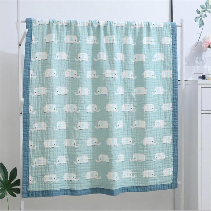 120*150cm Muslin Swaddle Baby Blankets 100% Cotton Newborn Baby Blanket 6 And 4 Layers Kids Blanket Baby Bedding Blanket