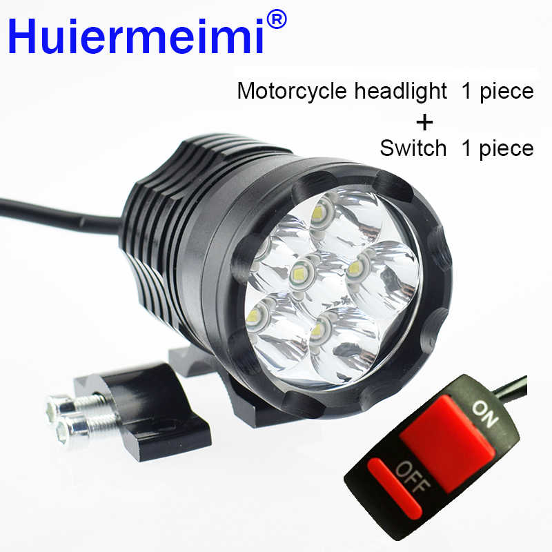 2Pcs Motorcycle Headlight LED Motorbike Spotlight LED Headlamp 6000K 12V 60W U2 Driving Auxiliary Lamp Motor Spot Head Light