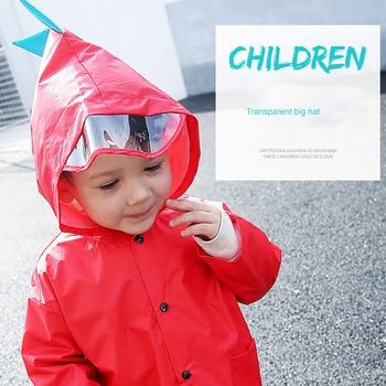 Children's baby raincoat kindergarten dinosaur children's large class poncho child children's poncho spring and autumn 2-6 years 1
