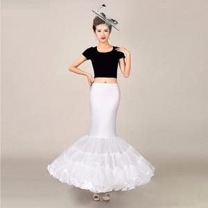 Image 3 - Mermaid Underskirt Petticoat Wedding Dress Accessories for Bridal Puffy Bottom Tulle One Hoop Crinolinas Para Boda