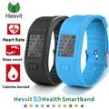 Mejor precio heart rate monitor inteligente banda hesvit s3 inteligente pulsera deporte pulsera de fitness inteligente perseguidor del sueño para samsung xiaomi