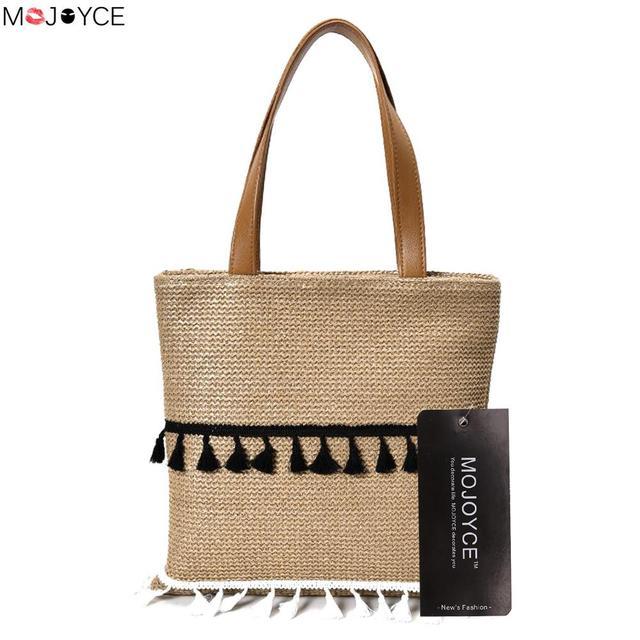 Aliexpress.com : Buy Women Straw Weaving Big Handbag Female Simple ...