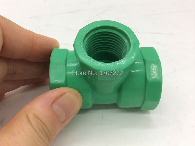 free shipping PPR pipe fitting G1/2 female tee PPR Pipe fitting, plumbing PPR  fittings, PPR  three contact