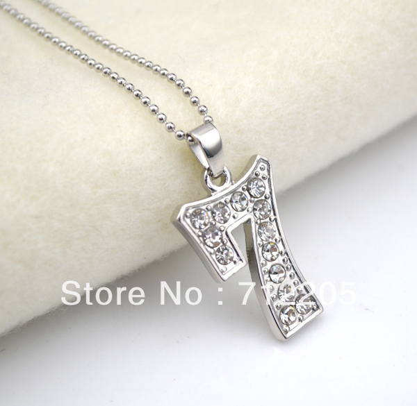 5pcs a lot rhodium plating with crystal number 7 digital pendant 5pcs a lot rhodium plating with crystal number 7 digital pendant necklaces a007 aloadofball Choice Image