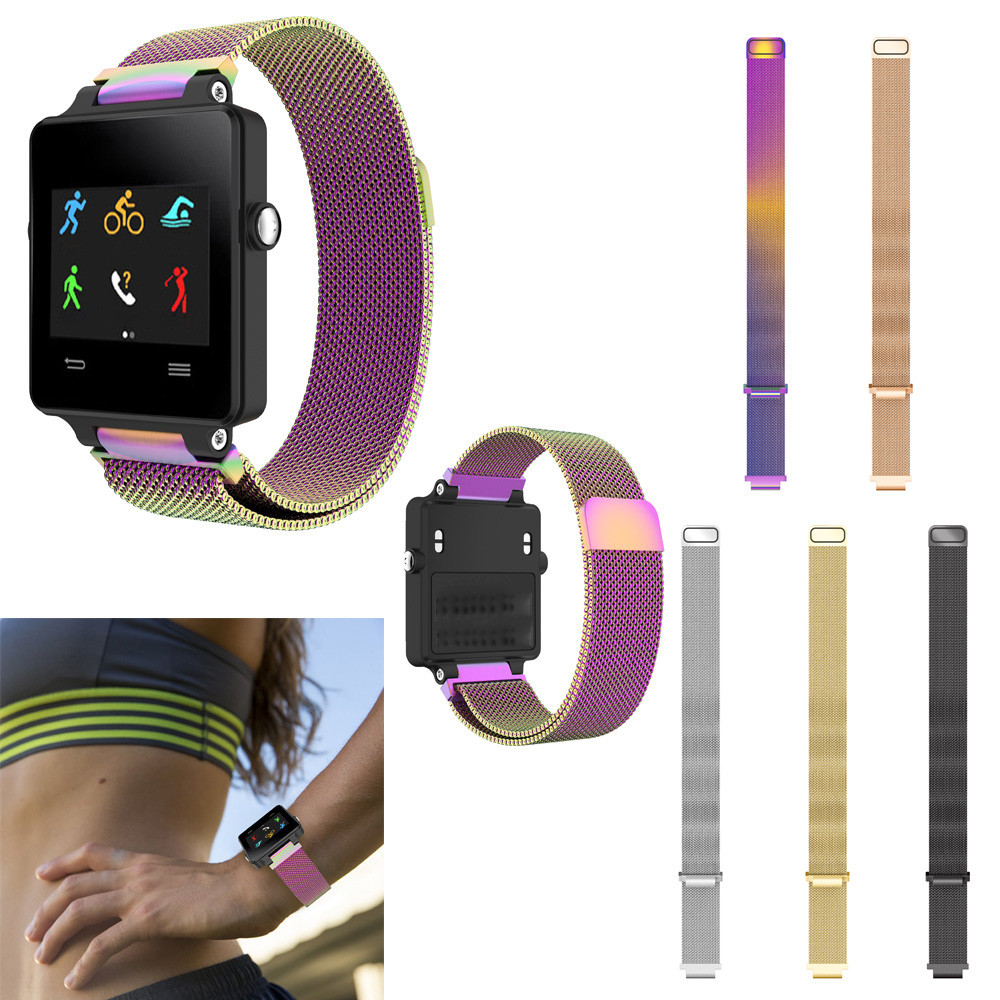 watch band  For Garmin Vivoactive Acetate Milanese Stainless Steel Watch Band Strap Bracelet For Garmin Vivoactive Acetate D28watch band  For Garmin Vivoactive Acetate Milanese Stainless Steel Watch Band Strap Bracelet For Garmin Vivoactive Acetate D28