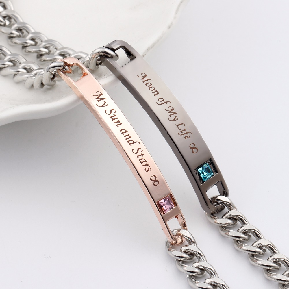 199cc810d Game Of Thrones New Style Letter Couple Bracelet Moon Of My Life My Sun and  Stars