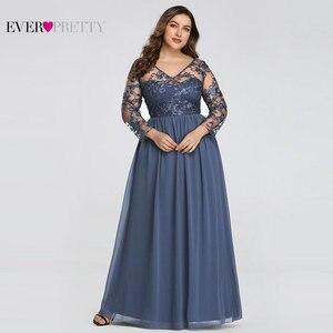 Image 2 - حجم كبير فستان عروس من أي وقت مضى جميلة EZ07633 أنيقة ألف خط الدانتيل يزين رداء حفلات طويلة 2020 Vestido De Madrinha