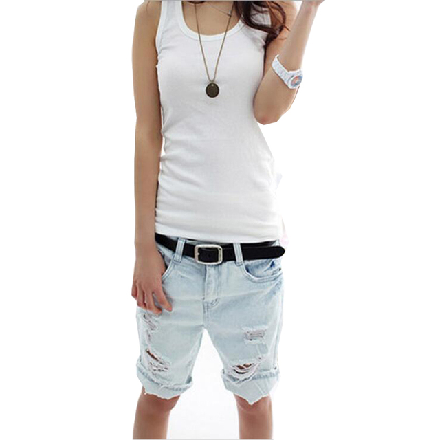 2016 Fashion Cute Dog Embroidery Pocket Ladies Jeans Vintage Ripped Jeans Women Hole Denim Short Pants Plus size XL  QL2005