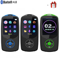 إصدار جديد محدث لعام 2019 مشغل موسيقى RUIZU X06 Bluetooth4.0 MP3 شاشة قائمة ألوان عالية الجودة بدون فقدان مع راديو إف إم ومسجل