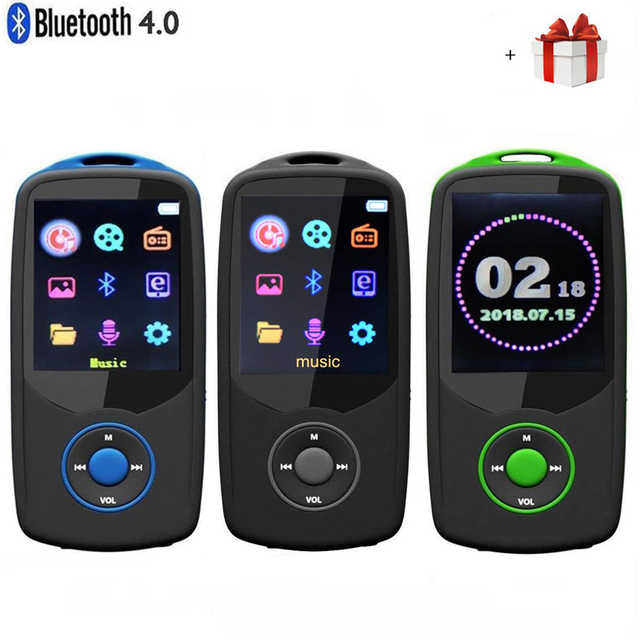 2018 Updated Version New RUIZU X06 Bluetooth4.0 MP3 Music Player 8GB/16GB Color Menu Screen High Quality with FM Radio,Recorder