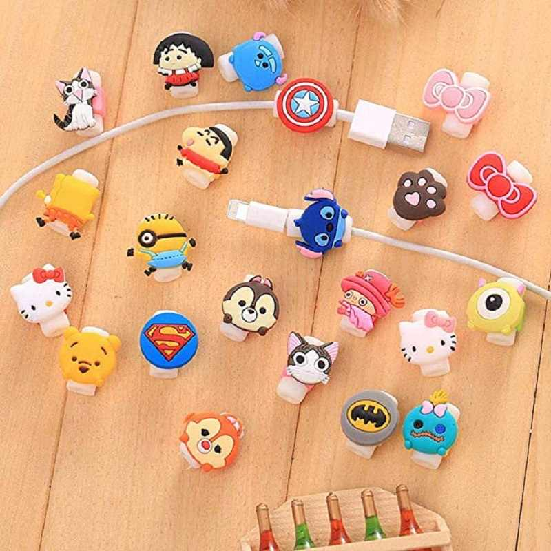 Cartoon Kabel Protector Voor iPhone sumsung huawei USB Opladen Data Line Cord Protector Case Kabelhaspel Cover