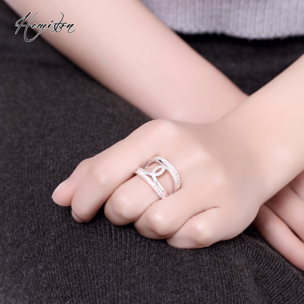 Brand Creative Hollow CC with Rhinestone Ring, Anillos Bague ...