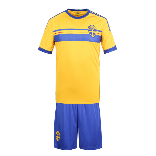 a61c88e792d The new 2014 Sweden Swedish national team short sleeve home jersey football  clothes