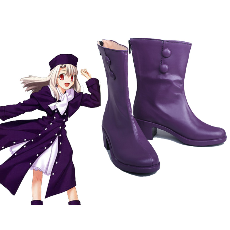 Game Fate Stay Night Saber Illyasviel Von Einzbern Cosplay Costume Boots Purple Shoes Custom Made New