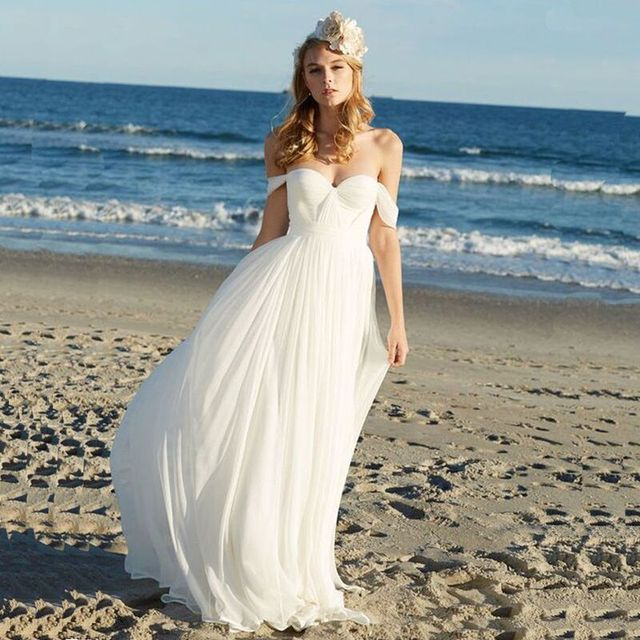 Real Picture Beach Wedding Dress 2017 Simply Elegant Off The ...