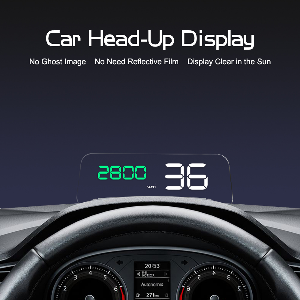 GEYIREN Original C500 OBD2 Hud Head Up Display With Mirror Projection Digital Car Speed Projector On Board Computer Fuel Mileage-in Head-up Display from Automobiles & Motorcycles