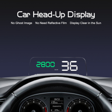 GEYIREN Original C500 OBD2 Hud Head-Up Display With Mirror Projection Digital Car Speed Projector On-Board Computer Fuel Mileage car hud 5 8 tft obdii head up display digital car speedometer on board computer obd2 windshield projector p12 p10 a100 a8 c500