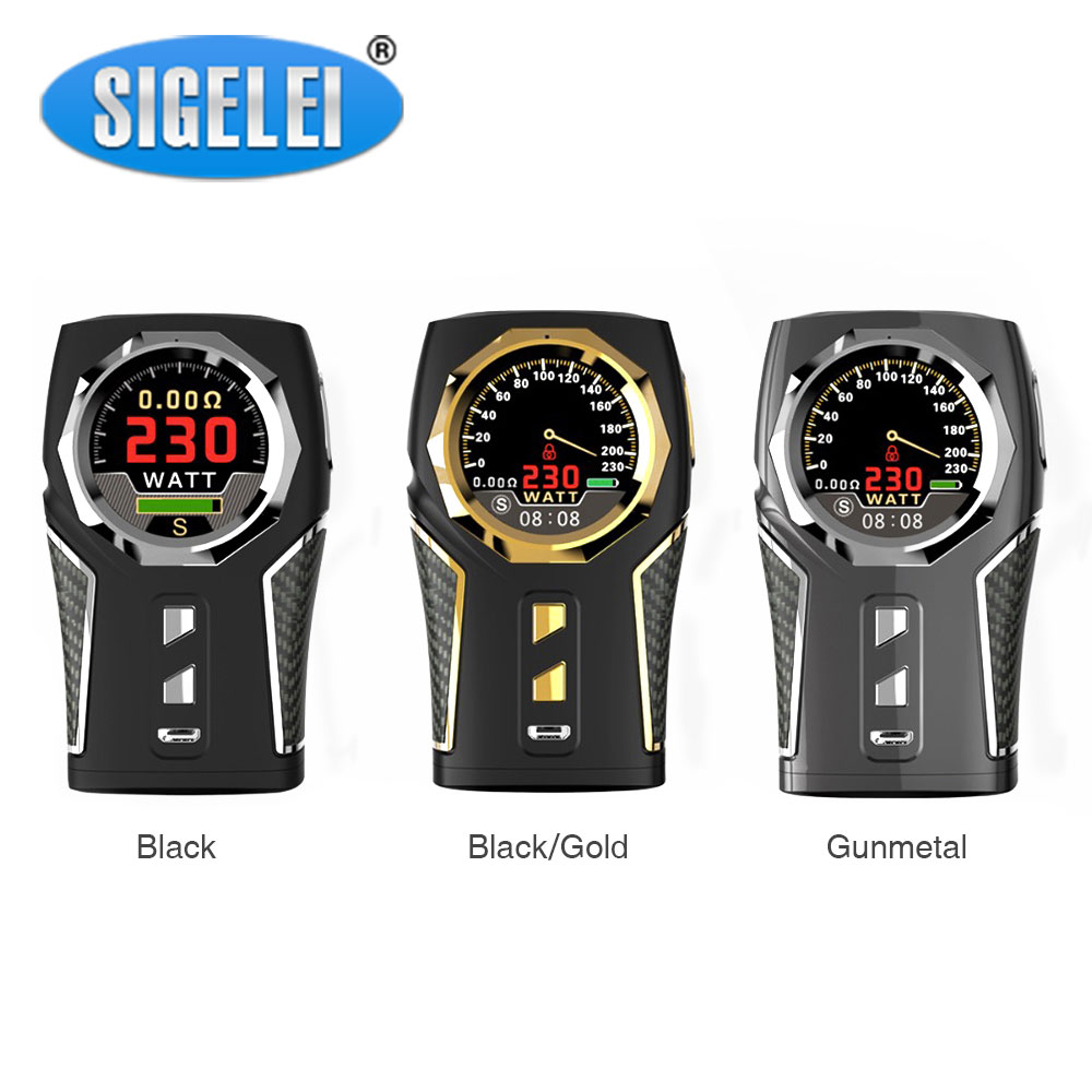 Original Sigelei TOP1 TC Box MOD W/ 1.3-inch HD Display Screen & 230W Huge Output Power No 18650 Battery E-cig Sigelei TOP1 Mod боксмод sigelei fuchai 213w tc blue силик чехол