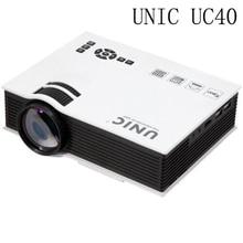 2016 Original UNIC UC40 UC40 + Mini Pico Proyector Portable 3D HDMI del Teatro Casero Beamer Proyector Multimedia Full HD 1080 P de Vídeo