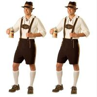 FREE SHIPPING Mens Lederhosen Oktoberfest Octoberfest Bavarian German Beer Costume size S 2XL