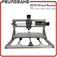 3018 cnc router carving machine,3axis diy mini machine,Pcb Pvc Milling Machine,Wood engraving machine,GRBL control+5500mw laser