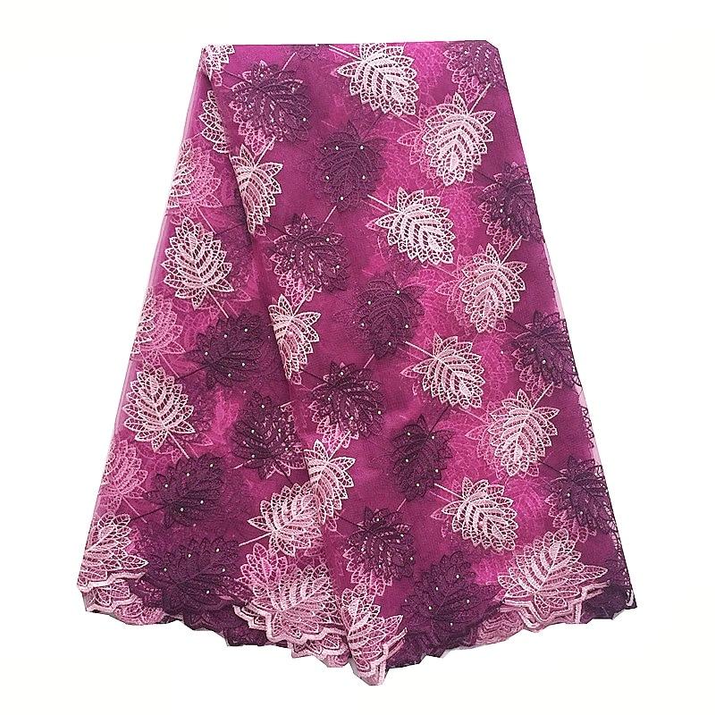 Royal Blue African Lace Fabric Nya Mesh Net Swiss Lace Material - Konst, hantverk och sömnad - Foto 5
