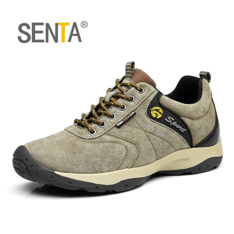 Genuine Leather Men s Sneakers Waterproof Leather Hiking Shoes Autumn Winter Outdoor Climbing Sports Shoes Trekking