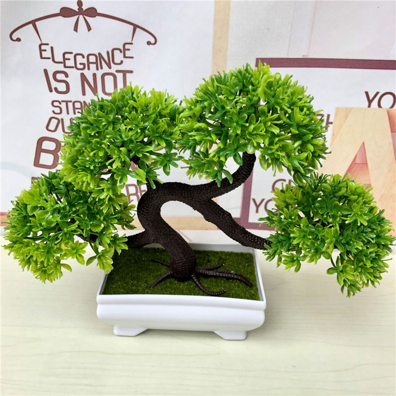 Artificial Plants Bonsai Simulation Plastic Small Tree Pot Plant Potted Ornaments Christmas Decoration Home Garden Decor 52841