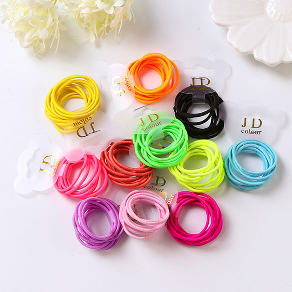 10PCS/lot Rubber Band For Children Scrunchy Girls Hair Bands Small Baby Headwear Multicolor Disposable Rubber Band Accessories