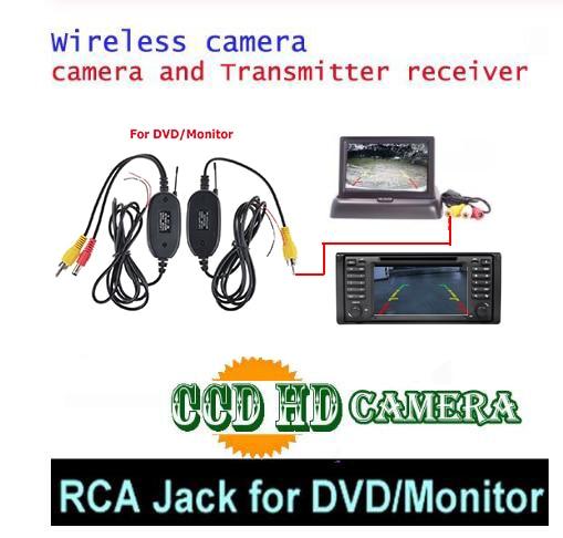 Беспроводная CCD Автомобильная камера заднего вида для Mercedes Benz R GLS SLK CLS Class ML350 W220 W203 W211 W209 W219 R171 - Название цвета: ccd wireless DVd