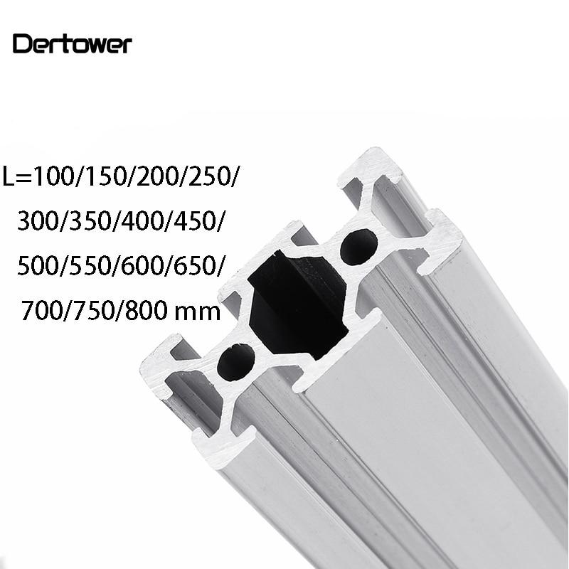 3D Printer Parts 2040  L=100~800 Mm Aluminum Profile European Standard Anodized Linear Rail Aluminum Profile 2040 Extrusion
