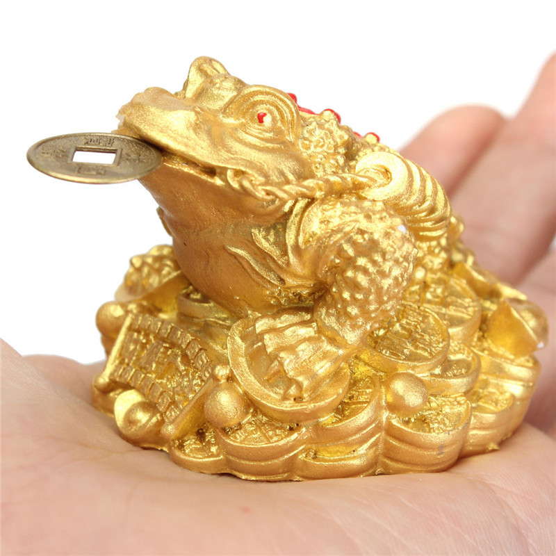 US $13 66 |New Feng Shui Money LUCKY Fortune Wealth Chinese for Frog Toad  Coin Home Office Decoration Tabletop Ornaments Good Lucky-in Figurines &