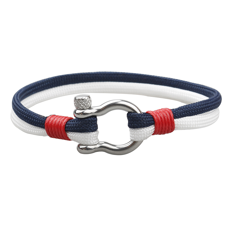 NIUYITID 2018 New Stainless Steel Buckle Men Bracelet Fashion Paracord Rope Navy Style Male Charm Braclet Jewelry High Quality (3)