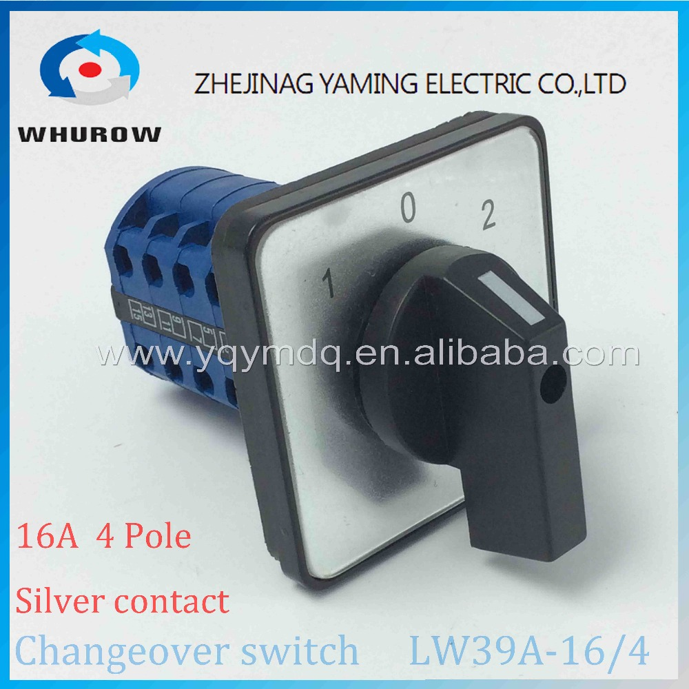 Rotary switch 3 postion LW39A-16/4 manually transfer changeover switch 16A 4 poles blue high quality sliver contacts big plate rotary switch ymz12 25 4 changeover cam combination switch 4 poles 8 positions 14 terminals 25a ui 690v sliver point contacts