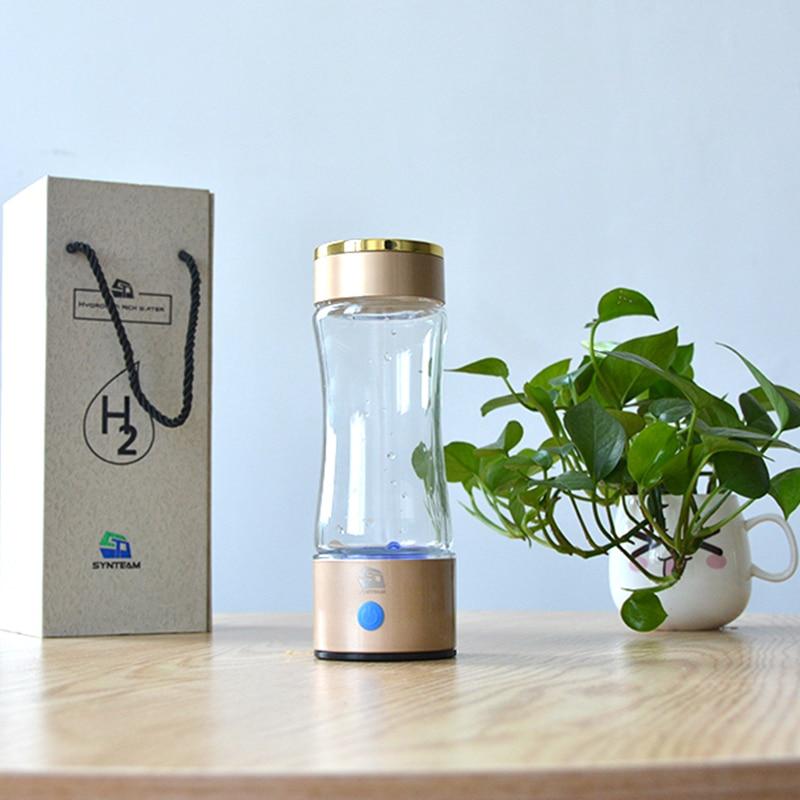 New Arrival Hydrogen Water Generator PEM Technology Hydrogen Water Bottle Alkaline Water Maker Anti Aging Water Ionizer WAC010 in Water Filters from Home Appliances